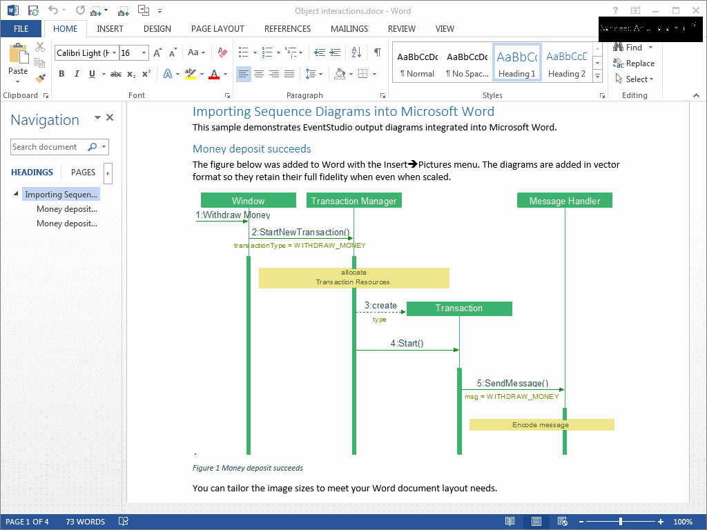 object interaction diagram in microsoft word